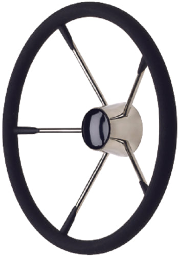 "Seachoice Destroyer Steering Wheel w/Foam Grip 15"" S/S 50-28581"