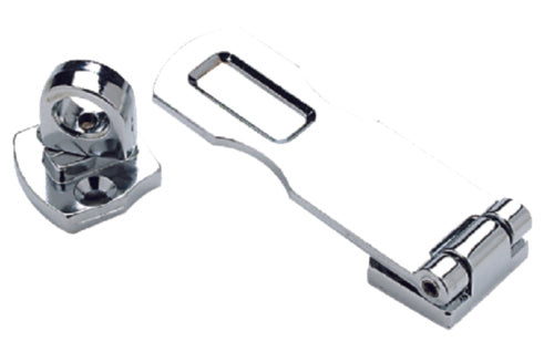 "Seachoice Swivel Eye Safety Hasp 3"" Chrome 50-37101"