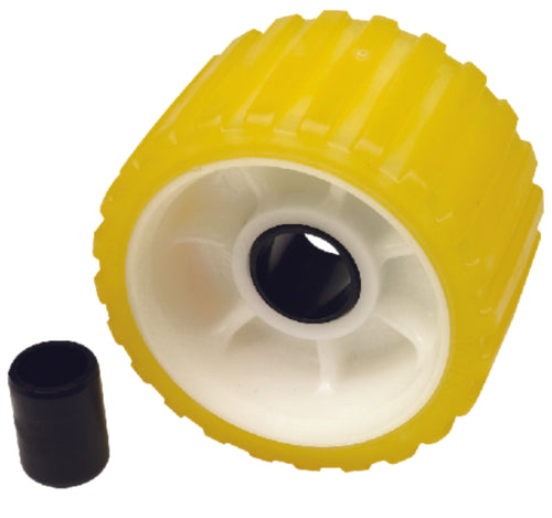 "Seachoice Wobble Roller Ribbed 5""x1-1/8"" Yellow 50-56540"