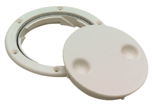 "Seachoice Deck Plate Twist 'N' Lock 6"" White 50-39351"