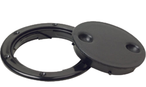 "Seachoice Deck Plate Twist 'N' Lock 4"" Black 50-39271"