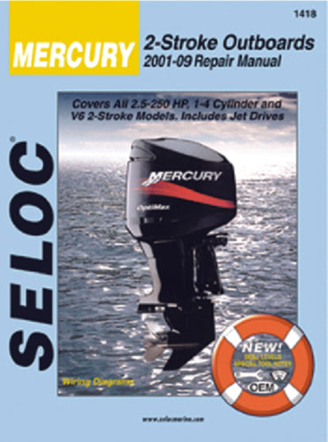 Seloc Manual Mercury O/B 2001-2014 1418