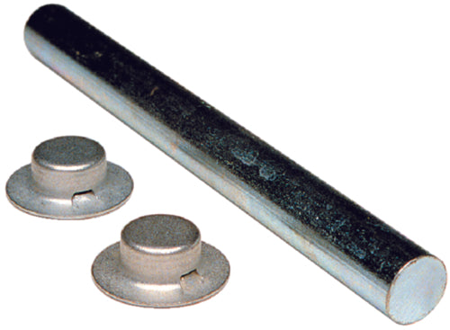 "Tie Down Roller Shaft w/2 Pal Nuts 9-1/4""x5/8"" 86029"