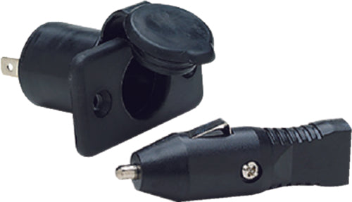 SeaChoice 12 Volt Accessory Socket DC Power Outlet w// Battery Clips Clamps 15031