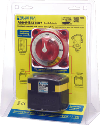 Blue Sea Battery Dual Circuit Plus Battery Switch 7650