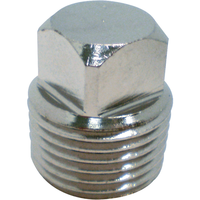 "Seachoice Garboard Drain Plug Only 1/2"" Chrome 50-18741"