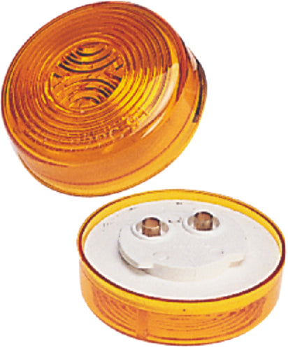 "Wesbar Clearance/Side Marker Light 2"" Round Amber 203380"