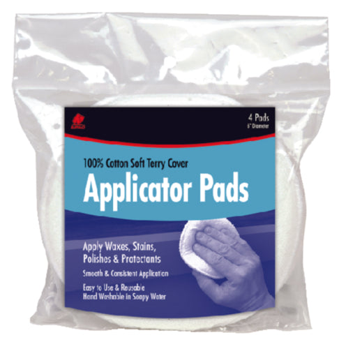 "Buffalo Rags Wax Applicator Pads 5"" 2-Pk Bag 64011"