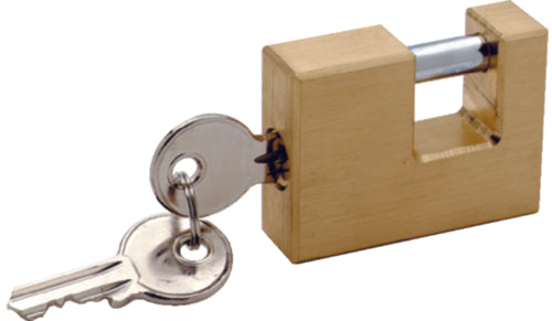 Attwood Trailer Coupler Security Lock Brass 12044-6