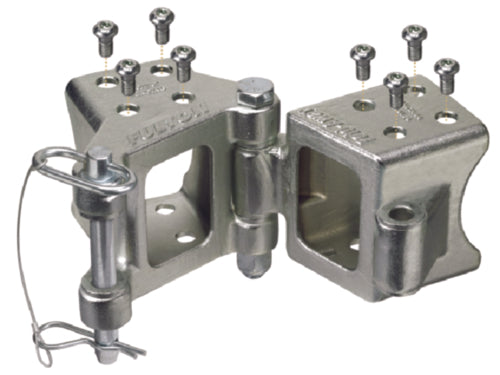 Fulton Fold-Away Bolt-On Hinge Trailer Coupler Kit HDPB330101