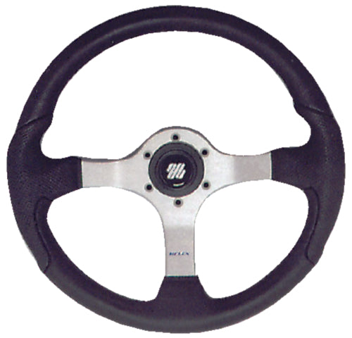 U-Flex Steering Wheel Nisida Polished Finish w/Black Grip NISIDABP