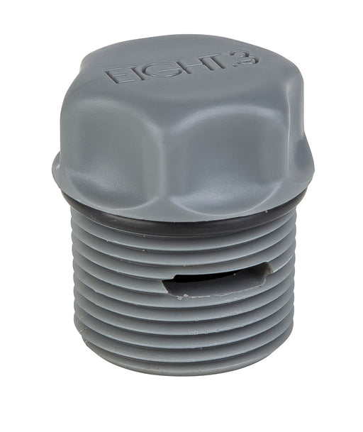 Eight.3 - Vented Valve Plug - Silver