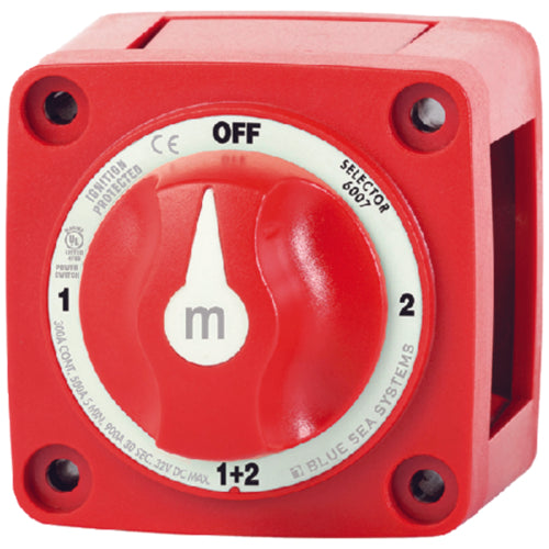 Blue Sea M Series Mini Battery Switch 4-Position 6007