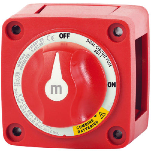Blue Sea M-Series Dual Circuit Plus Mini Battery Switch On/Off 6011