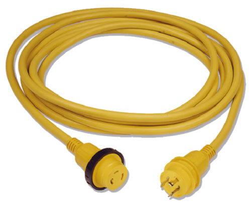 Marinco Shorepower Cordset 30amp w/LED 25ft Yellow 199117