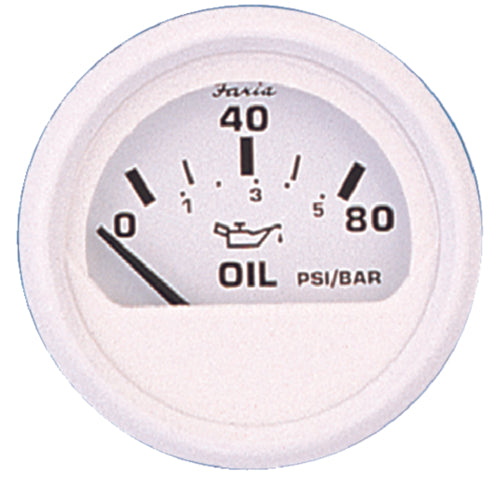 "Faria Dress White Oil Pressure 2"" 80psi 13102"