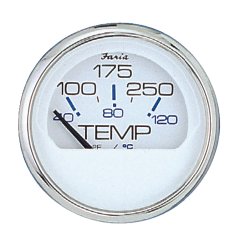 "Faria Chesapeake White S/S Water Temp 2"" 100-250 F 13804"