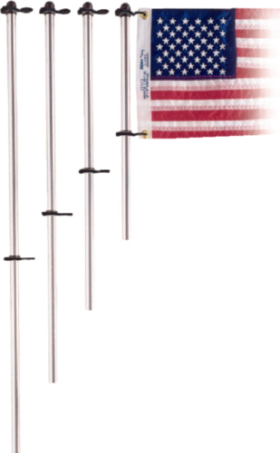 "Taylor Flag Pole Only 24"" w/Charlevoix Flag Clips Aluminum 916"