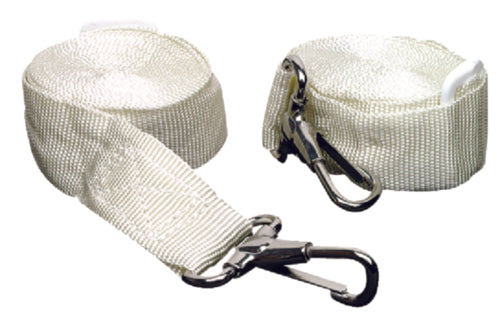 "Seachoice Bimini Top Straps Adjustable 96"" White Pr 50-78801"
