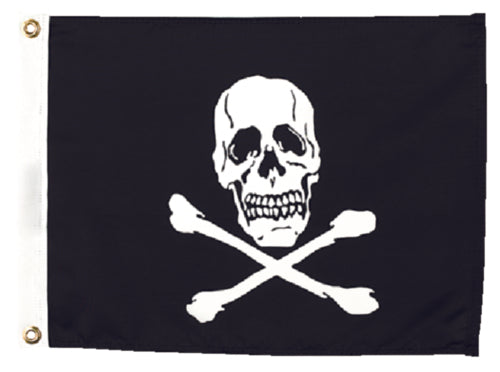 "Seachoice Jolly Roger Flag 12""x18"" Nylon 50-78251"
