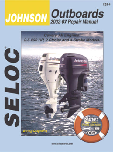 Seloc Manual Johnson/Evinrude O/B 2002-2007 1314
