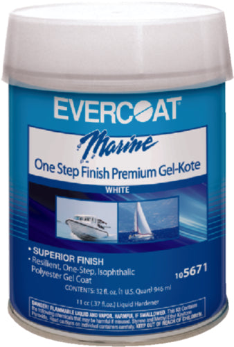 Evercoat One-Step Finish Gelkote White Pt 105670