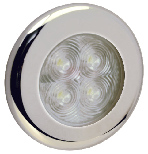 "Seachoice LED Round Courtesy Interior Light 3"" Blue 50-03121"