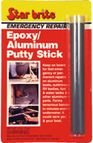 Starbrite Emergency Repair Epoxy/Aluminum Putty Stick 4oz 87004