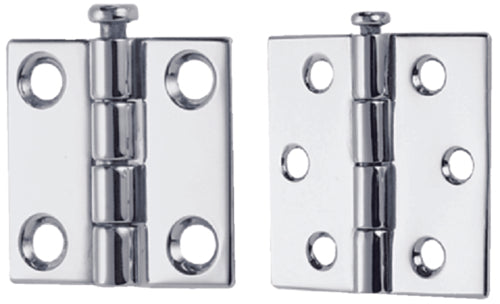 "Perko Butt Hinges 2"" Chrome Pr 1293-DP4-CHR"