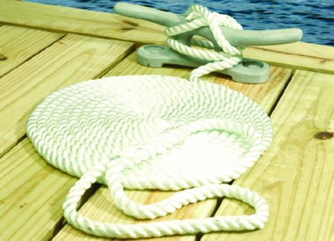"Seachoice Dock Line Twisted Nylon 3/4""x50ft White 50-42651"