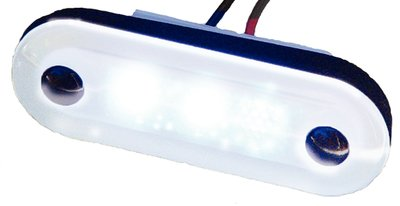 Aqua Signal Santiago 3-LED Courtesy Light Oval Red 16403-7