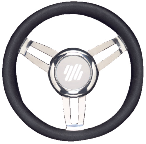 U-Flex Steering Wheel Foscari Black Vinyl Chrome FOSCARIVCHB