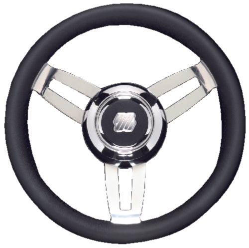 U-Flex Steering Wheel Morosini Black Poly Chrome Hub MOROSINIUCHB