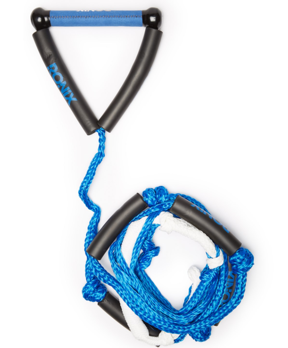 RONIX 2020 25 Bungee Surf Rope with Handle Silver//White