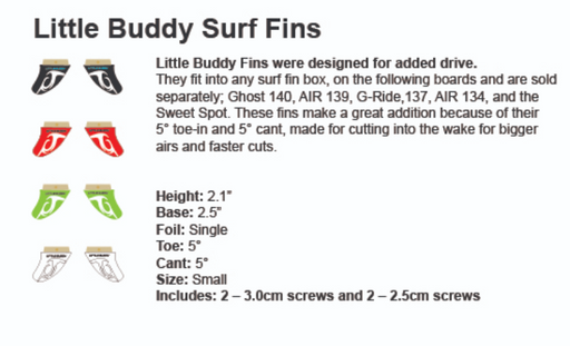 Inland Surf Little Buddy's Surf Fin 2-1"