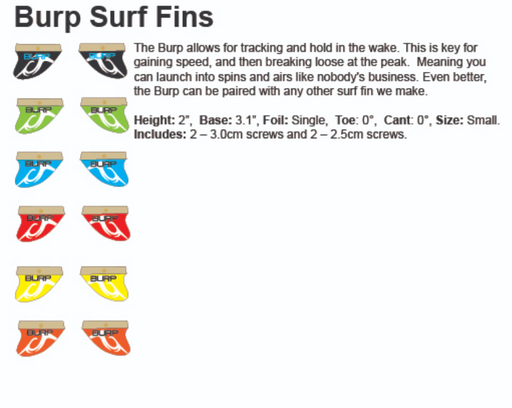Inland Surf Burp Surf Fins 2"