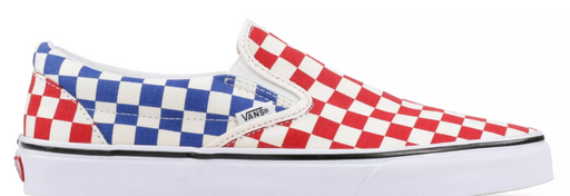 Vans Men's UA Classic Slip On Checkered Red/Wht | 2018
