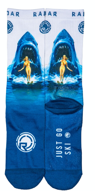Radar Attack Shark Crew Socks | 2021