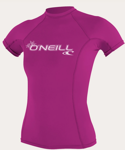 O'neill Women's Basic UPF 50+ S/S Rash Guard Fox Pink | 2020