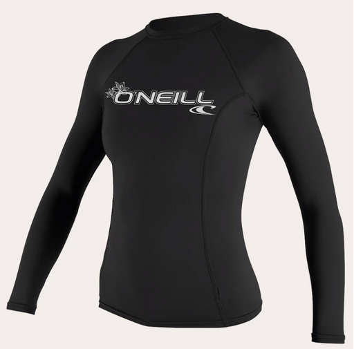 O'neill Women's Basic UPF 50+ L/S Rash Guard BLK | 2020