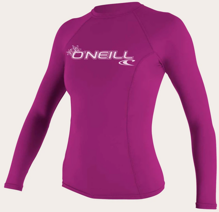 O'neill Women's Basic UPF 50+ L/S Rash Guard Fox Pink | 2020