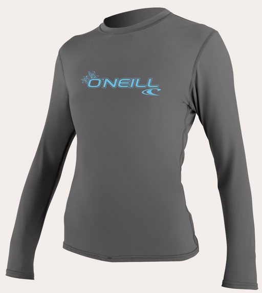 O'neill Women's Basic UPF 50+ L/S Sun Shirt Graphite | 2020