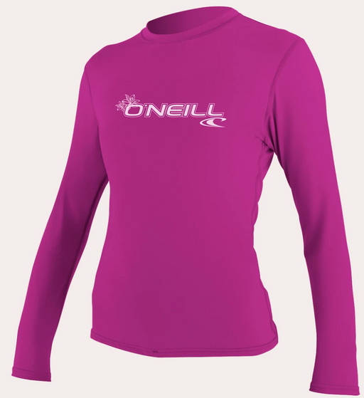 O'neill Women's Basic UPF 50+ L/S Sun Shirt Fox Pink | 2020