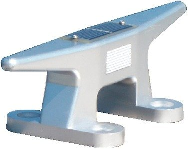 "Dock Edge Solar Rechargeable Dock Cleat 10"" Aluminum w/Battery 96-288-F"