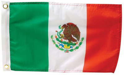"Seachoice Mexico Flag 12""x18"" Nylon 50-78271"