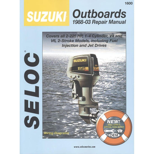 Seloc Manual Suzuki O/B 1988-2003 1600