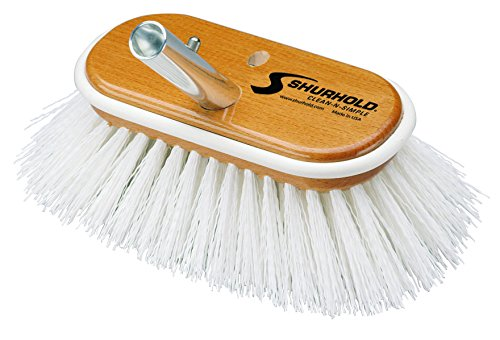 "Shurhold Deck Brush Stiff White 6"" 950"