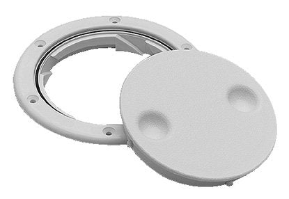 "Seachoice Deck Plate Twist 'N' Lock 8"" White 50-39421"