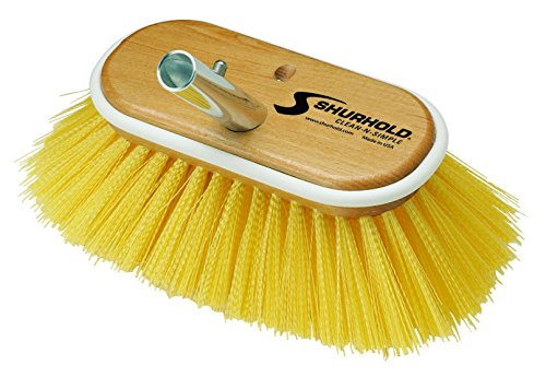 "Shurhold Deck Brush Medium Yellow 6"" 955"