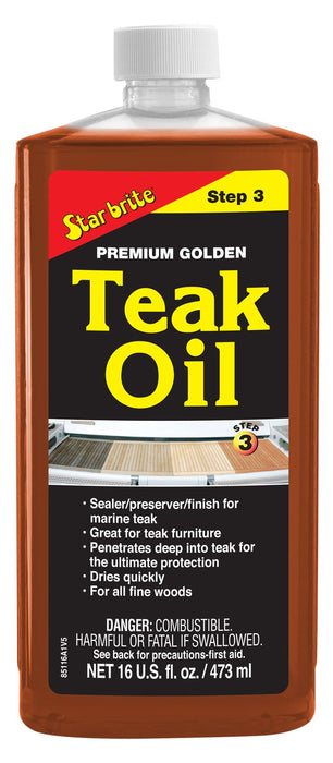 Starbrite Premium Golden Teak Oil 16oz 85116
